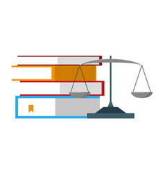 Books stacked and balance vector