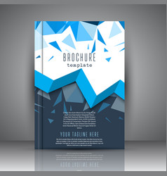 brochure template with low poly design vector image
