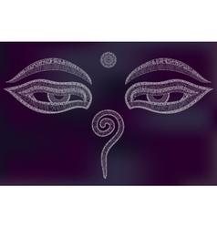 Buddha eyes nepal symbol wisdom and vector
