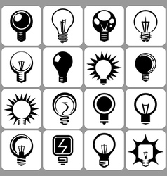 bulb icons vector image