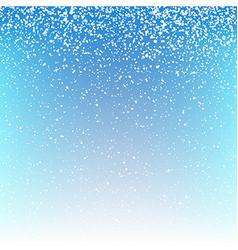 Christmas snowfall background vector image
