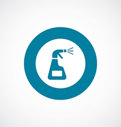 Cleaning icon bold blue circle border vector
