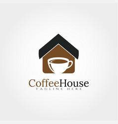 Coffee house logo design template element vector