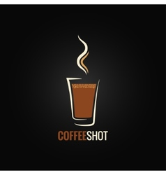 Coffee shot glass design background vector
