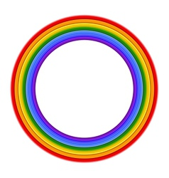 Colorful rainbow ring vector
