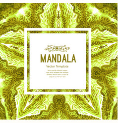 colorful watercolor mandala oriental vintage vector image