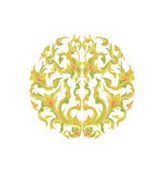 Colors flora art pattern vector
