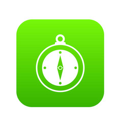 compass icon digital green vector image