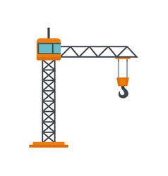 Construction crane icon flat style vector