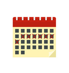 contraceptive calendar icon flat style vector image