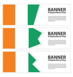 Cote divoire flag banners collection independence vector