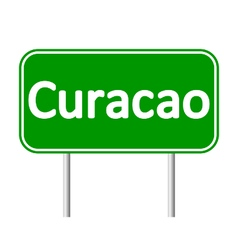 Curacao road sign vector