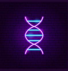 dna neon label vector image