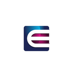 e 3d colorful square letter logo icon design vector image