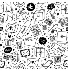 everything is packed and delivered on time black vector image