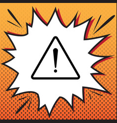 Exclamation danger sign flat style vector