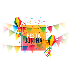 festa junina holiday greeting card design with vector image