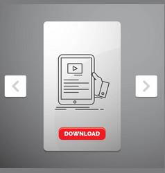 forum online webinar seminar tutorial line icon vector image