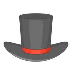 Gentleman hat icon cartoon style vector