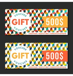 Gift voucher templates modern design vector