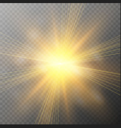 glow light effect explosion glitter spark sun vector image