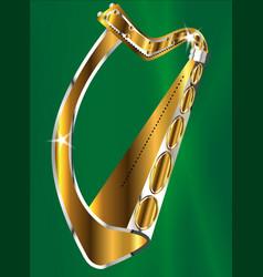 Golden irish harp vector
