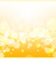 Golden lights background yellow shine vector