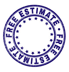 Grunge textured free estimate round stamp seal vector