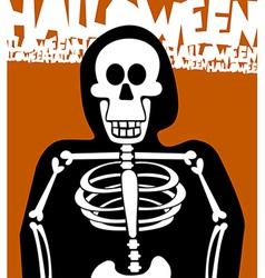 Halloween Skeleton Greeting Card vector image