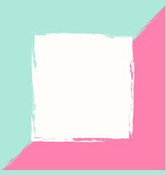 hand darwn pastel pink mint creative card vector image