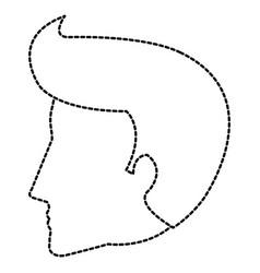 head profile man avatar character vector image