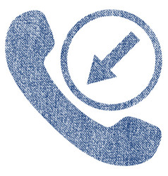Incoming call fabric textured icon vector