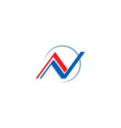 initial letter n logo design vector image
