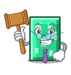 Judge rectangle mascot cartoon style vector