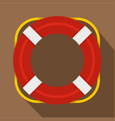 Lifebuoy icon flat style vector