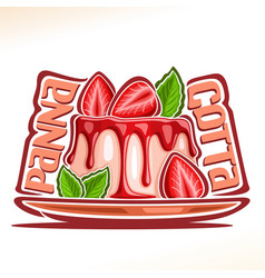 Logo for panna cotta vector