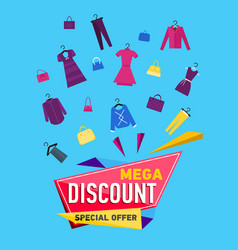 mega discount poster vector image
