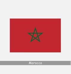 Morocco moroccan national country flag banner icon vector