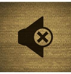 Mute speaker icon symbol Flat modern web design vector image