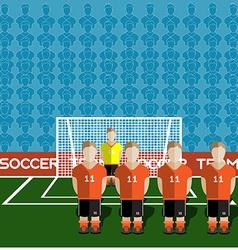 Netherlands Soccer Club Penalty on a Stadium vector