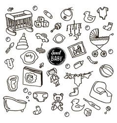 newborn baset vector image