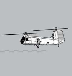 piasecki hup retriever h-25 army mule vector image