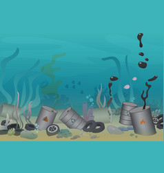 plastic tires and poisonous barrel pollution vector image