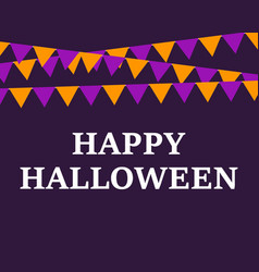 postcard with flags happy halloween vector image