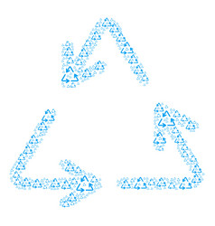 Recycle triangle icon figure vector