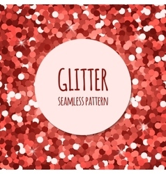 Red glitter seamless pattern vector