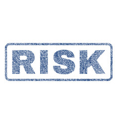 Risk textile stamp vector