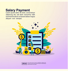 Salary payment concept with people character vector