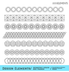 set geometric hipster shapes and vector image