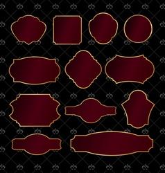 Set of vintage golden frames vector image